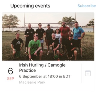 Irish Hurling / Camogie Practice
